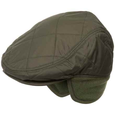 Barbour Quilted Foldaway Driving Cap - Insulated (For Men) in Olive - Closeouts