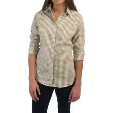 Barbour Raby Cotton Gingham Check Shirt - Long Sleeve (For Women) in Loden Green - Closeouts