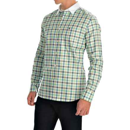Barbour Raceway Cotton Shirt - Tailored Fit, Button Front, Long Sleeve (For Men) in Turf Check - Closeouts