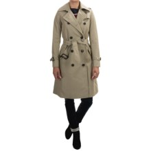 Barbour Range Rover Carbon Trench Coat (For Women) in Stone - Closeouts