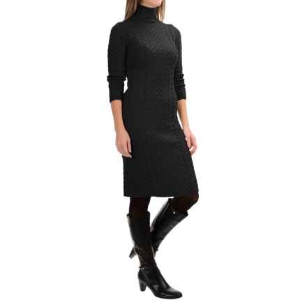 Barbour Range Rover Ratio Sweater Dress - Lambswool, 3/4 Sleeve (For Women) in Black - Closeouts