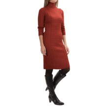 Barbour Range Rover Ratio Sweater Dress - Lambswool, 3/4 Sleeve (For Women) in Burnt Orange - Closeouts