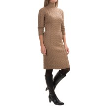 Barbour Range Rover Ratio Sweater Dress - Lambswool, 3/4 Sleeve (For Women) in Camel - Closeouts