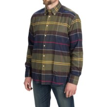 Barbour Rannoch Plaid Flannel Shirt - Long Sleeve (For Men) in Classic Tartan - Closeouts