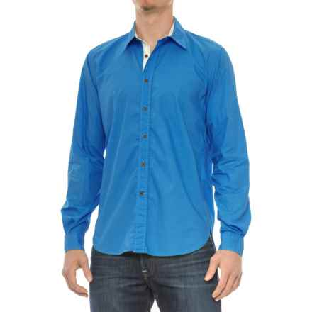 Barbour Rathburn Shirt - Spread Collar, Long Sleeve (For Men) in Bright Blue - Closeouts