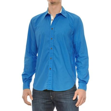 Barbour Rathburn Shirt - Spread Collar, Long Sleeve (For Men) in Bright Blue