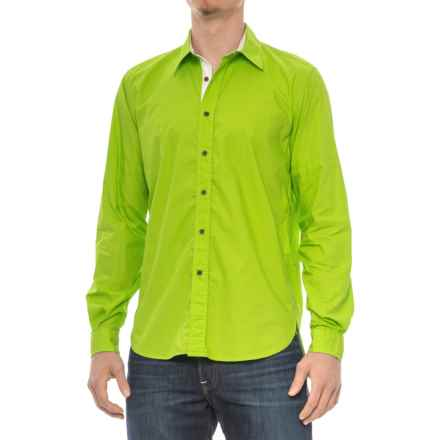 Barbour Rathburn Shirt - Spread Collar, Long Sleeve (For Men) in Green - Closeouts