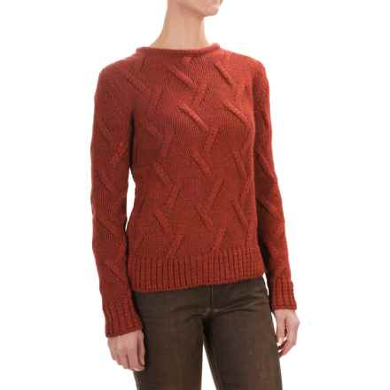Barbour Ratio Cable-Knit Sweater (For Women) in Burnt Orange - Closeouts