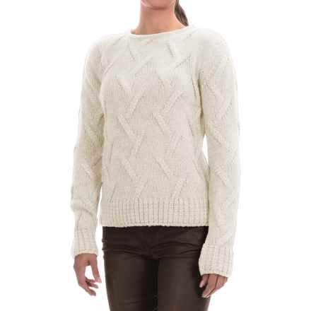 Barbour Ratio Cable-Knit Sweater (For Women) in White - Closeouts