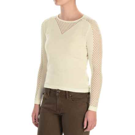 Barbour Ratio Fine-Gauge Knit Sweater - Merino Wool-Alpaca (For Women) in Vanilla - Closeouts