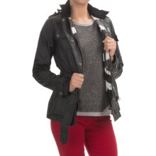 Barbour Rectifier Belted Waxed-Cotton Jacket (For Women) in Black - Closeouts