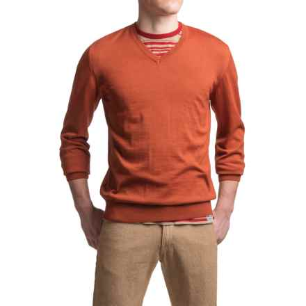 Barbour Redhill CoolMax® Sweater - V-Neck (For Men) in Mars Red - Closeouts