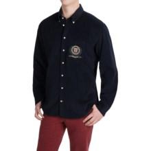 Barbour Regiment Regular Fit Corduroy Shirt - Long Sleeve (For Men) in Navy - Closeouts