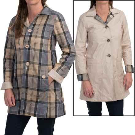 Barbour Reversible Tartan Derby Mac Trench Coat (For Women) in Dark Pearl R/Dress - Closeouts