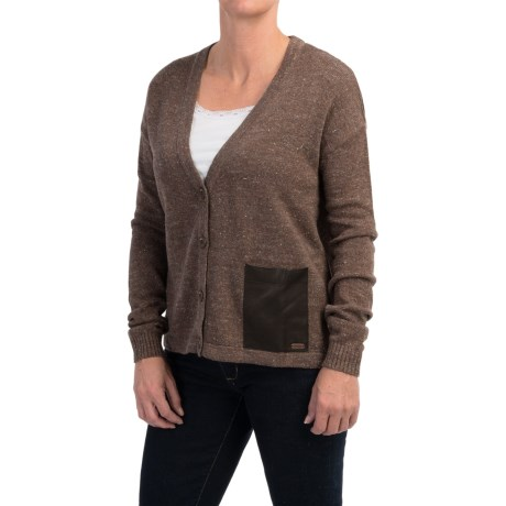 Barbour Rigg Cropped Button Cardigan Sweater (For Women)