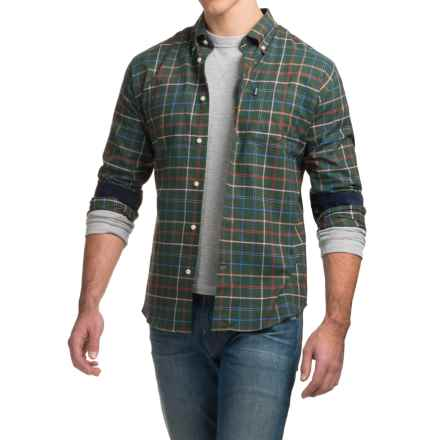 Barbour Ronald Tattersall Shirt - Tailored Fit, Long Sleeve (For Men) in Forest Green - Closeouts