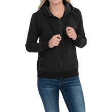 Barbour Seaton Hooded Sweatshirt - Full Zip (For Women) in Black - Closeouts