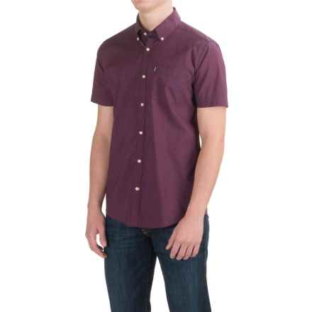 Barbour Seth Shirt - Short Sleeve (For Men) in Red - Closeouts