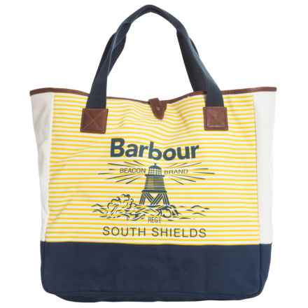 Barbour Shopping Tote Bag (For Women) in Navy/Yellow, Portishead - Closeouts