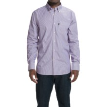 Barbour Skelton Striped Shirt - Button Front, Long Sleeve (For Men) in Navy Stripe - Closeouts