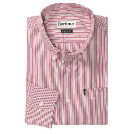 Barbour Skelton Striped Shirt - Button Front, Long Sleeve (For Men) in Rich Red Stripe - Closeouts