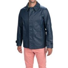 Barbour Slicker Too Jacket - Waxed Cotton, Button Front (For Men) in Navy - Closeouts