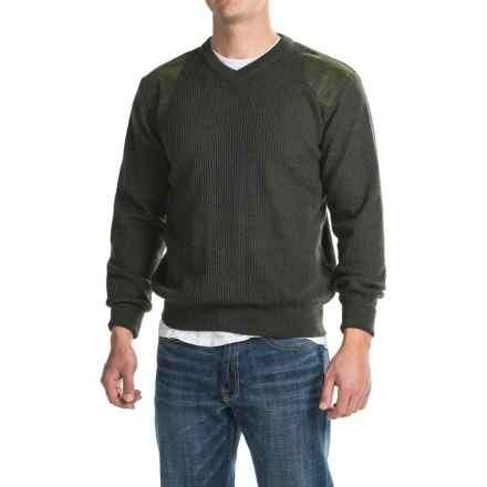 Barbour Sporting V-Neck Sweater - Merino Wool (For Men) in Loden - Closeouts