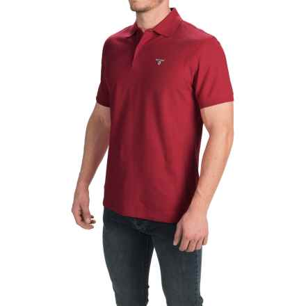 Barbour Sports Polo Shirt - Short Sleeve (For Men) in Biking Red - Closeouts