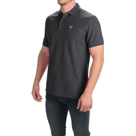 Barbour Sports Polo Shirt - Short Sleeve (For Men) in Navy - Closeouts