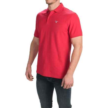 Barbour Sports Polo Shirt - Short Sleeve (For Men) in Red - Closeouts