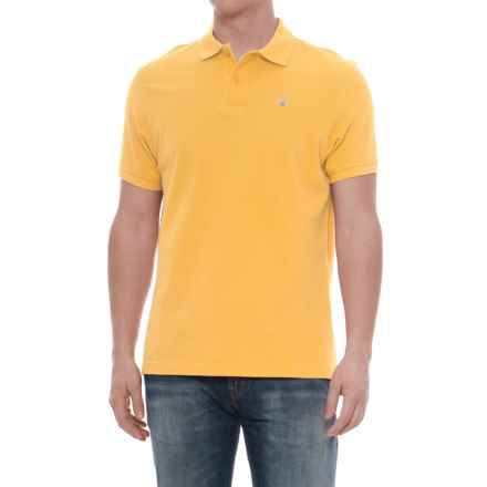 Barbour Sports Polo Shirt - Short Sleeve (For Men) in Yellow - Closeouts