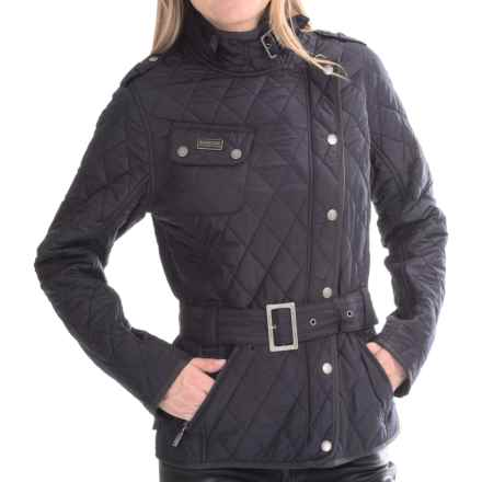 Barbour Spring Quilted Jacket (For Women) in Navy/Grey - Closeouts