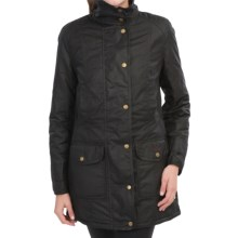 Barbour Squire Jacket - Waxed Cotton (For Women) in Black - Closeouts