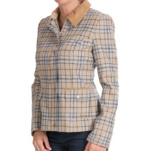 Barbour Stable Jacket - Wool Tweed, Full Zip (For Women) in Pink Check - Closeouts