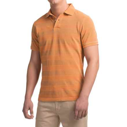 Barbour Stack Polo Shirt - Short Sleeve (For Men) in Amber - Closeouts