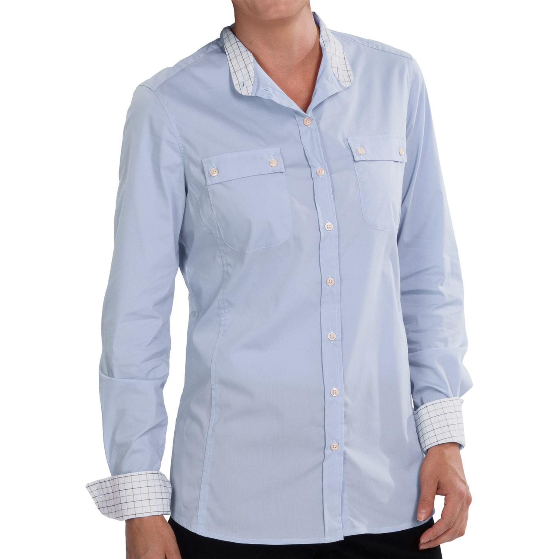 Barbour stall shirt for women save 86 for Lightweight long sleeve shirts women s