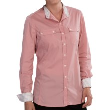 Barbour Stall Shirt - Lightweight, Long Sleeve (For Women) in Pink - Closeouts