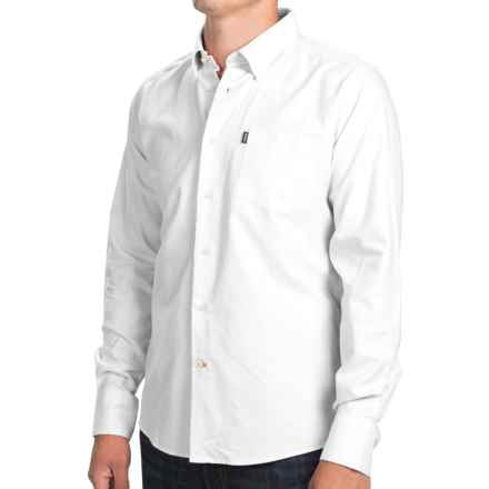 Barbour Stanley Shirt - Slim Fit, Long Sleeve (For Men) in White - Closeouts