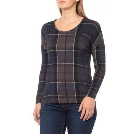 Barbour Straiton Jersey Shirt - Scoop Neck, Long Sleeve (For Women) in Navy - Closeouts