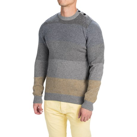 Barbour Strata Sweater Wool, Crew Neck (For Men)