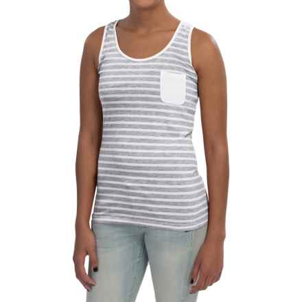 Barbour Striped Tank Top (For Women) in Light Grey Marl, Agnes - Closeouts