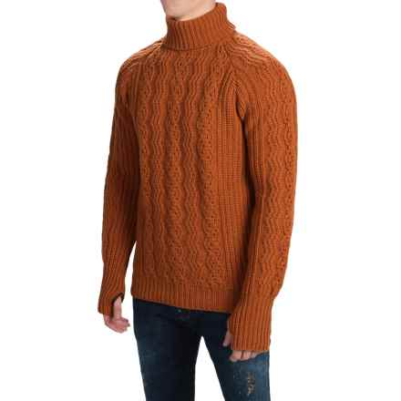 Barbour Sub-Deck Turtleneck Sweater - Wool (For Men) in Brick Red - Closeouts