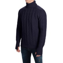 Barbour Sub-Deck Turtleneck Sweater - Wool (For Men) in Navy - Closeouts