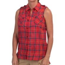 Barbour Suki Shirt - Snap Front, Sleeveless (For Women) in Cardinal Tartan - Closeouts