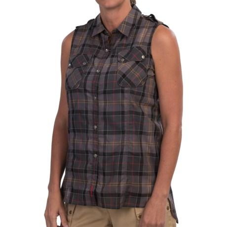Barbour Suki Shirt Snap Front, Sleeveless (For Women)