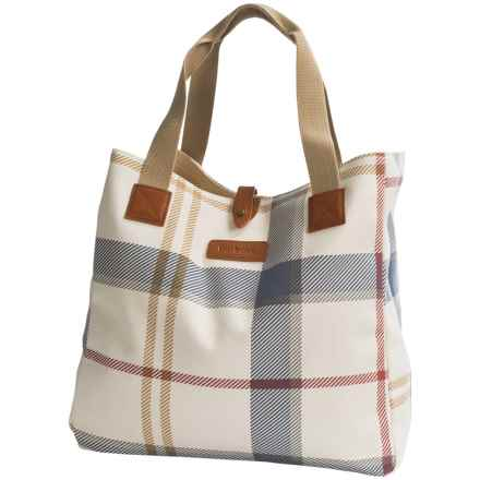 Barbour Summer Dress Cotton Tartan Tote Bag (For Women) in Summer - Closeouts