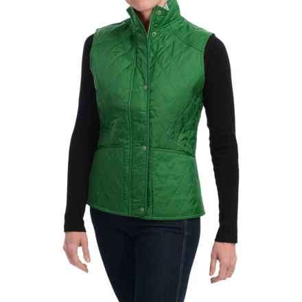 Barbour Summer Liddesdale Diamond-Quilted Vest (For Women) in Evergreen/Pearl - Closeouts