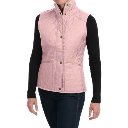 Barbour Summer Liddesdale Diamond-Quilted Vest (For Women) in Light Pink Pastel - Closeouts