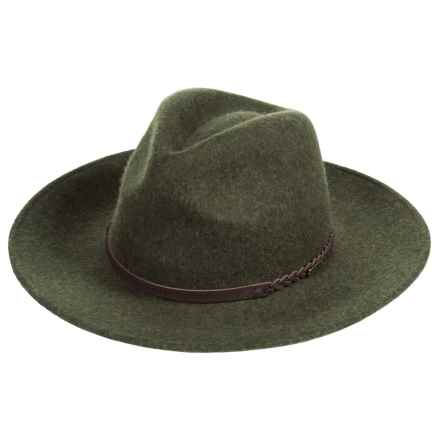 Barbour Tack Fedora - Wool (For Women) in Olive - Closeouts