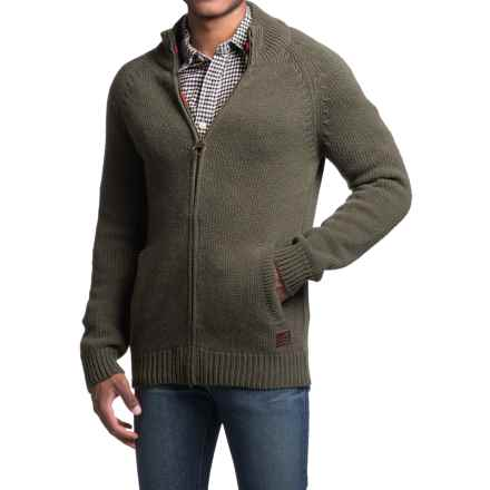 Barbour Tarset Sweater Jacket (For Men) in Dark Olive - Closeouts
